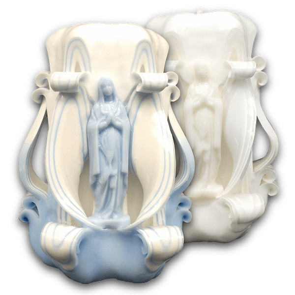 13cm Our Lady of Lourdes | Carved Candles Carved Candles [tag]