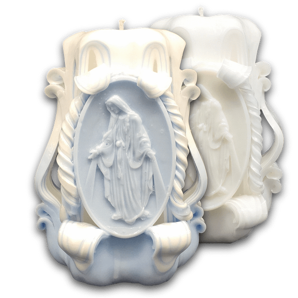 13cm Our Lady of Grace | Carved Candles Carved Candles [tag]
