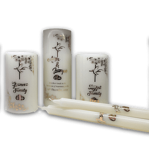 Wedding Unity Candles Set Personalised Candles Wedding