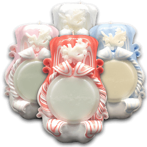 Confirmation |Dove | Personalised | Carved Candle Personalised Candles Confirmation