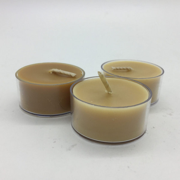 Bee-wax Tea Light Candles x6 Scented Candles [tag]