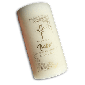 Personalised Pillar Candle Personalised Candles Baptism
