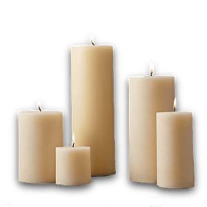 White Beeswax Candles 100% Candles beeswax