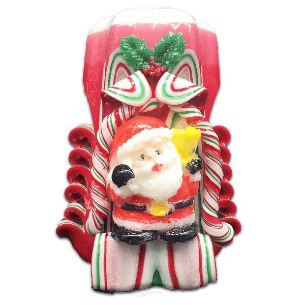 Santa Scented Carved Candle Scented Candles Christmas
